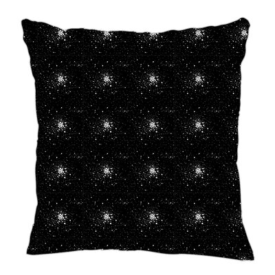 Star Burst Throw Pillow Size: 20 H x 20 W x 5 D, Color: Black