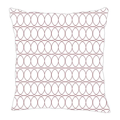Spiral Graph Throw Pillow Size: 16 H x 16 W x 5 D, Color: Maroon