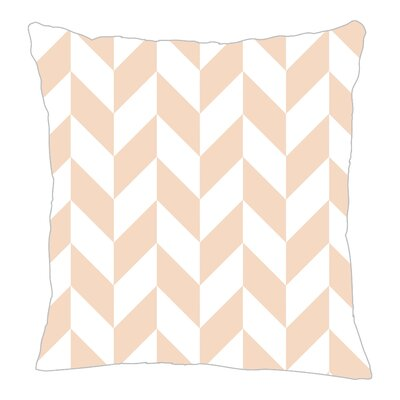 Zig Throw Pillow Size: 16 H x 16 W x 5 D, Color: Peach