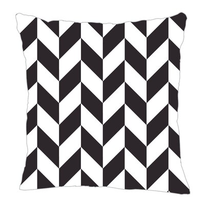 Zig Throw Pillow Size: 18 H x 18 W x 5 D, Color: Black