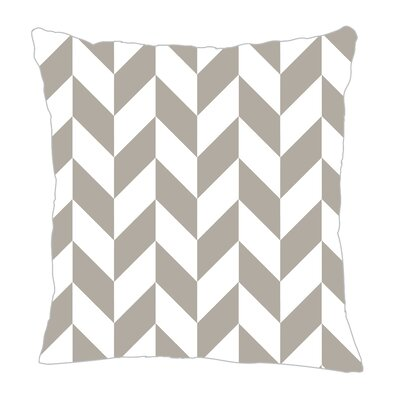Zig Throw Pillow Size: 16 H x 16 W x 5 D, Color: Gray