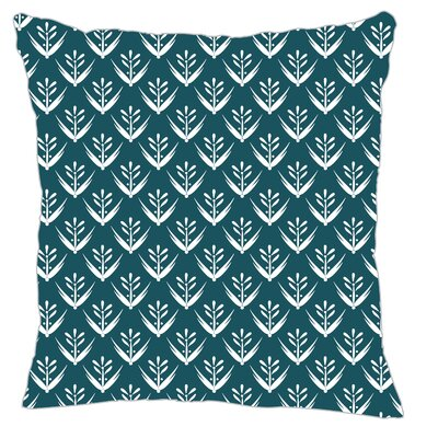 Wild Meadow Throw Pillow Size: 20 H x 20 W x 5 D, Color: Teal Line