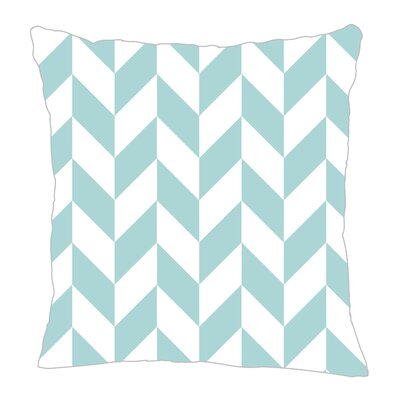 Zig Throw Pillow Size: 16 H x 16 W x 5 D, Color: Light Blue