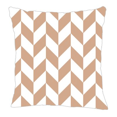Zig Throw Pillow Color: Light Brown, Size: 18 H x 18 W x 5 D