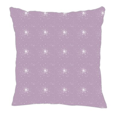 Star Burst Throw Pillow Color: Lilac, Size: 16 H x 16 W x 5 D
