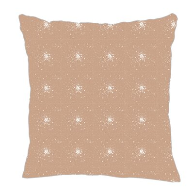 Star Burst Throw Pillow Size: 16 H x 16 W x 5 D, Color: Light Brown/White