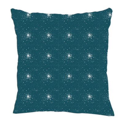 Star Burst Throw Pillow Size: 18 H x 18 W x 5 D, Color: Teal/White