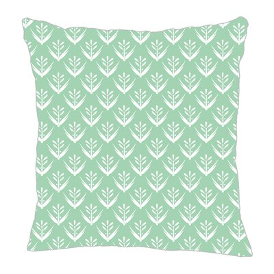 Wild Meadow Throw Pillow Size: 16 H x 16 W x 5 D, Color: Mint