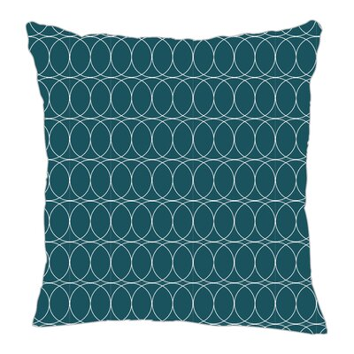 Spiral Graph Throw Pillow Size: 16 H x 16 W x 5 D, Color: Teal