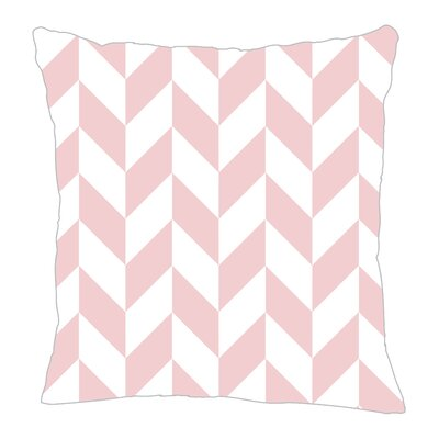 Zig Throw Pillow Size: 16 H x 16 W x 5 D, Color: Pink