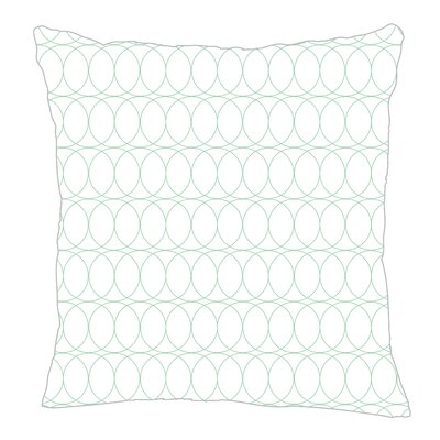 Spiral Graph Throw Pillow Color: Mint, Size: 20 H x 20 W x 5 D