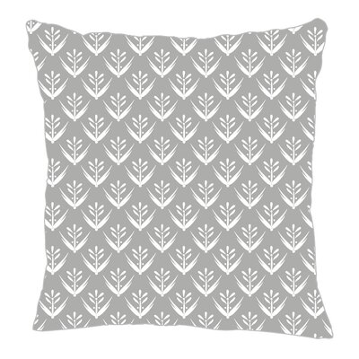 Wild Meadow Throw Pillow Size: 20 H x 20 W x 5 D, Color: Gray Line