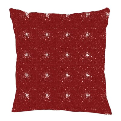 Star Burst Throw Pillow Size: 18 H x 18 W x 5 D, Color: Maroon