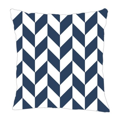 Zig Throw Pillow Size: 16 H x 16 W x 5 D, Color: Navy