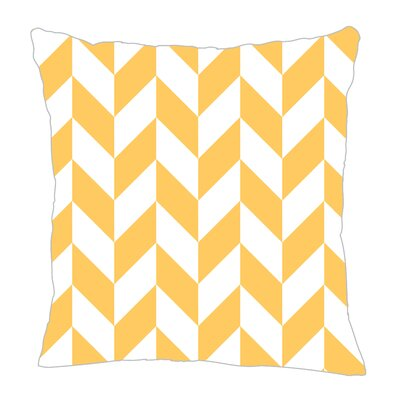 Zig Throw Pillow Size: 16 H x 16 W x 5 D, Color: Yellow