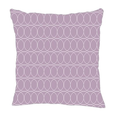 Spiral Graph Throw Pillow Size: 18 H x 18 W x 5 D, Color: Lilac