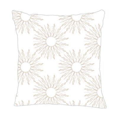 Sun Throw Pillow Size: 18 H x 18 W x 5 D, Color: Light Brown