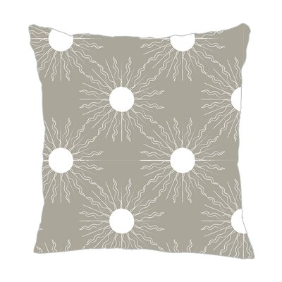 Sun Throw Pillow Size: 16 H x 16 W x 5 D, Color: Gray/White