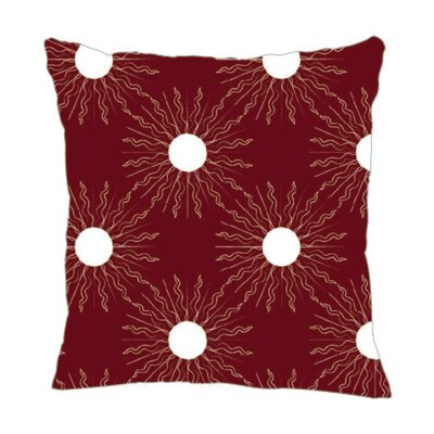 Sun Throw Pillow Color: Maroon, Size: 20 H x 20 W x 5 D