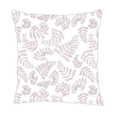 Fern Throw Pillow Size: 18 H x 18 W x 5 D, Color: Lilac