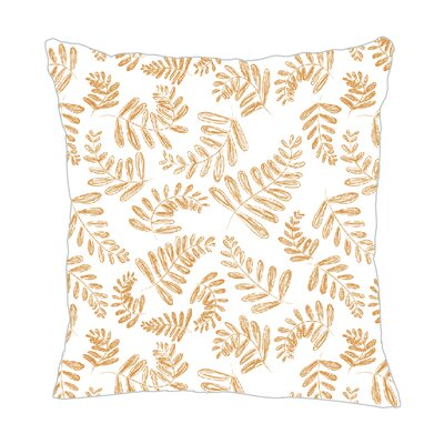 Fern Throw Pillow Size: 18 H x 18 W x 5 D, Color: Mango
