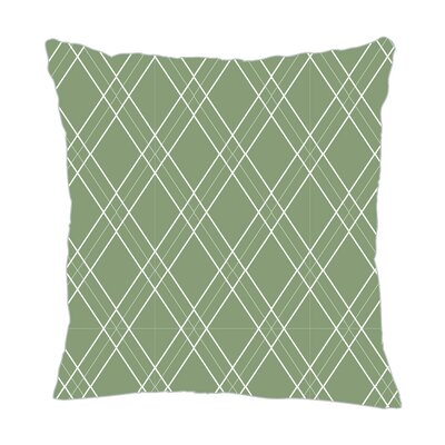 Argyle Throw Pillow Color: Seamist, Size: 18 H x 18 W x 5 D