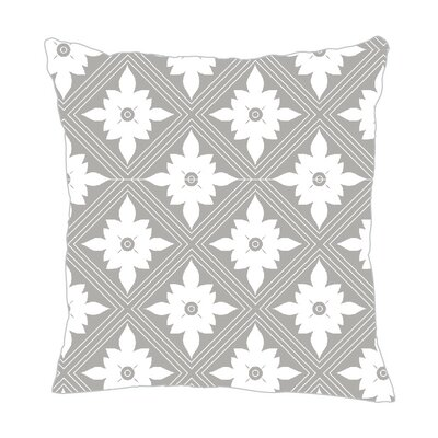 Kaleidoscope Throw Pillow Size: 18 H x 18 W x 5 D, Color: Gray