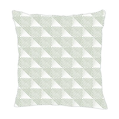 Origami Throw Pillow Color: Seamist, Size: 18 H x 18 W x 5 D