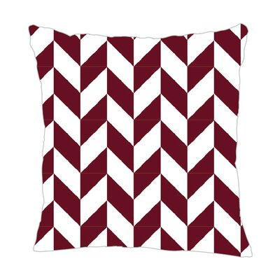 Zig Throw Pillow Size: 20 H x 20 W x 5 D, Color: Maroon