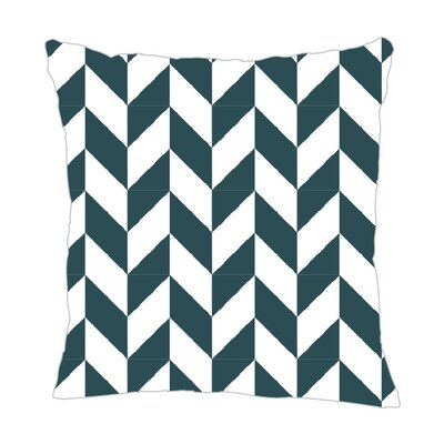 Zig Throw Pillow Size: 18 H x 18 W x 5 D, Color: Teal