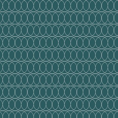 Spiral Graph Fabric Color: Teal