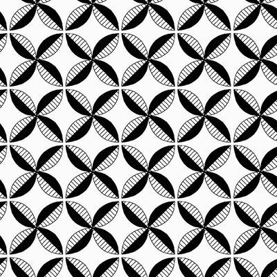 Pinwheel Fabric Color: Black Line