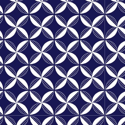 Pinwheel Fabric Color: Navy