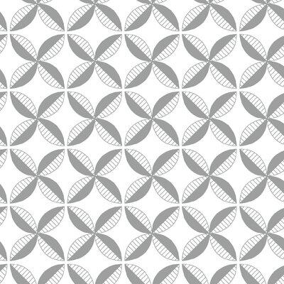 Pinwheel Fabric Color: Gray Line