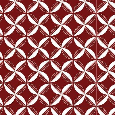 Pinwheel Fabric Color: Maroon