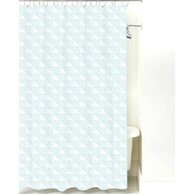 Origami Cotton Shower Curtain Color: Light Blue