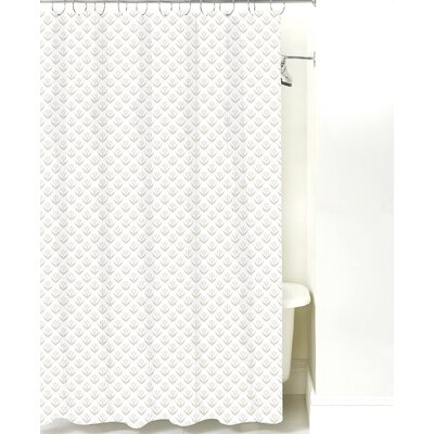Wild Meadow Cotton Shower Curtain Color: Sand