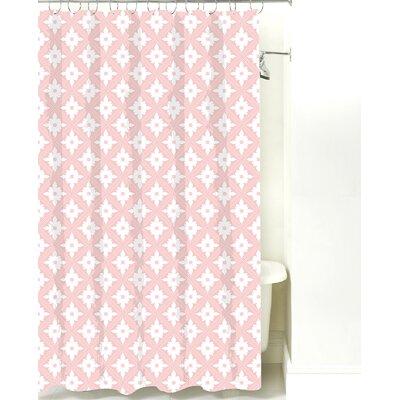 Kaleidoscope Cotton Shower Curtain Color: Pink