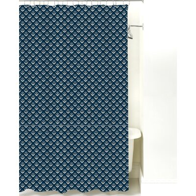 Wild Meadow Cotton Shower Curtain Color: Navy Sand