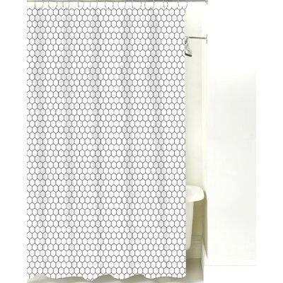 Mosaic Cotton Shower Curtain Color: Black