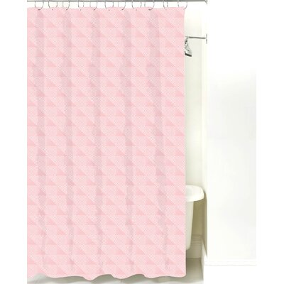 Origami Cotton Shower Curtain Color: Pink