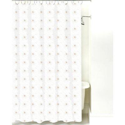 Star Burst Cotton Shower Curtain Color: Light Brown Dot