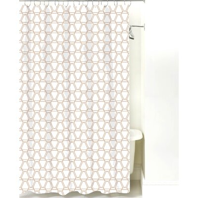 Navajo Cotton Shower Curtain Color: Light Brown Line
