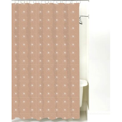 Star Burst Cotton Shower Curtain Color: Light Brown