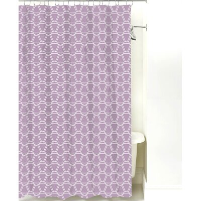 Navajo Cotton Shower Curtain Color: Lilac