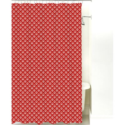 Wild Meadow Cotton Shower Curtain Color: Red