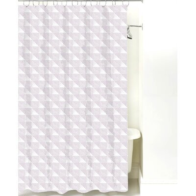 Origami Cotton Shower Curtain Color: Lilac