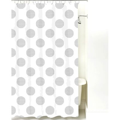 Modern Cotton Shower Curtain Color: Gray