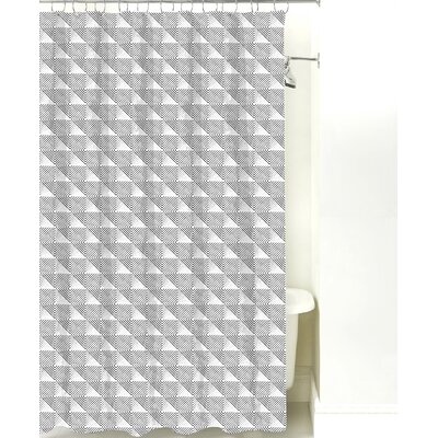 Origami Cotton Shower Curtain Color: Black