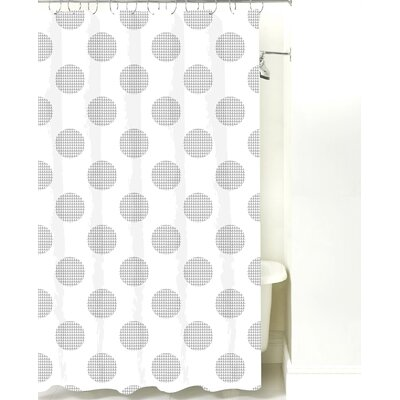 Modern Dot Cotton Shower Curtain Color: Gray